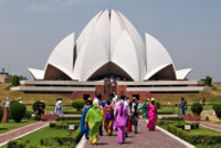 The Bah??House of Worship in India attracts an average of 4 million visitors a year.