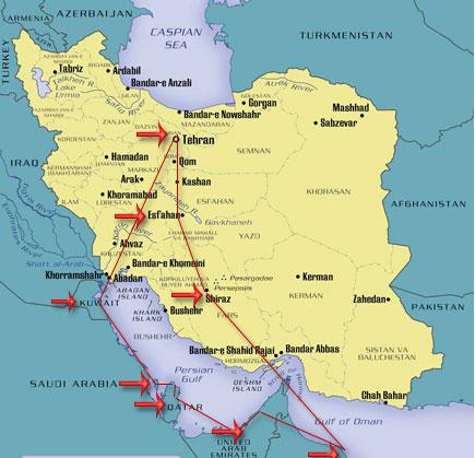 map_iran_kuwait_dubai_oman_qatar_bahrain