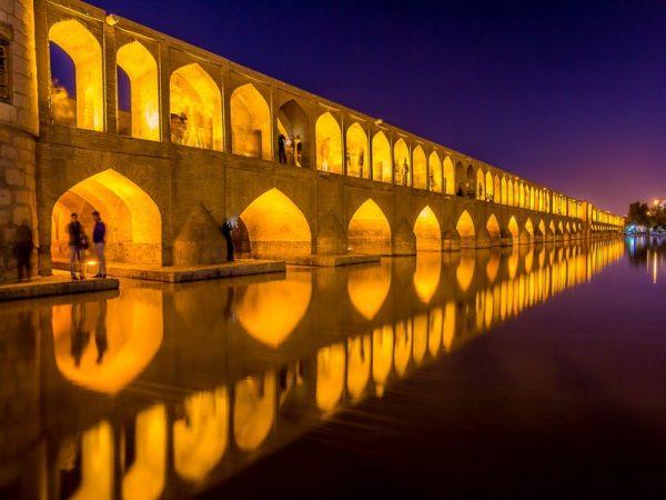Sentral persian sojourn, persiatours,Khaju Bridge, Isfahan